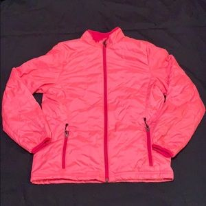 REI girl's down jacket pink xl 18